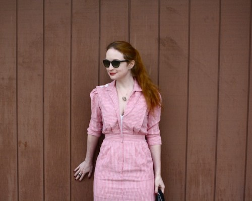 New Dress A Day - DIY - Vintage 80s pantsuit - Goodwill