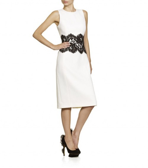 New Dress A Day - white shift dress - DIY - Michael Kors Copycat White Lace Dress