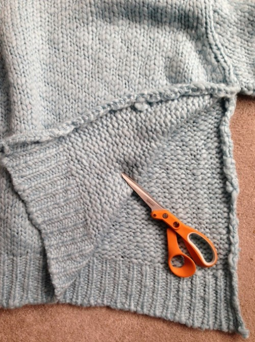 New Dress A Day - DIY - Marc Jacobs sweater - Copycat - Oversized Safety Pin