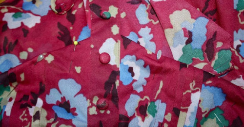 New Dress A Day - Vintage Floral Dress - DIY - thrift store