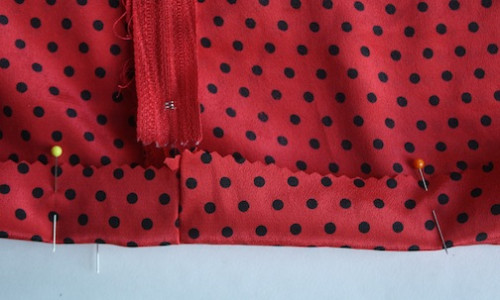 New Dress A Day - DIY - Red Polkadotted Tunic