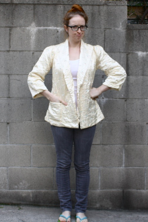 New Dress A Day - DIY - Vintage Satin Blazer