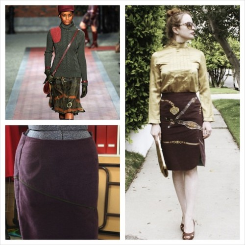 New Dress A Day - DIY - Tommy Hilfiger Belt Print Skirt