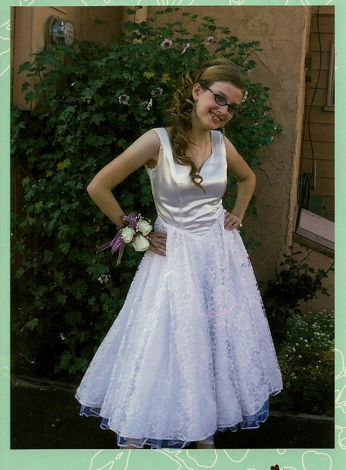 New Dress A Day - DIY - Vintage Wedding Dress - 80s