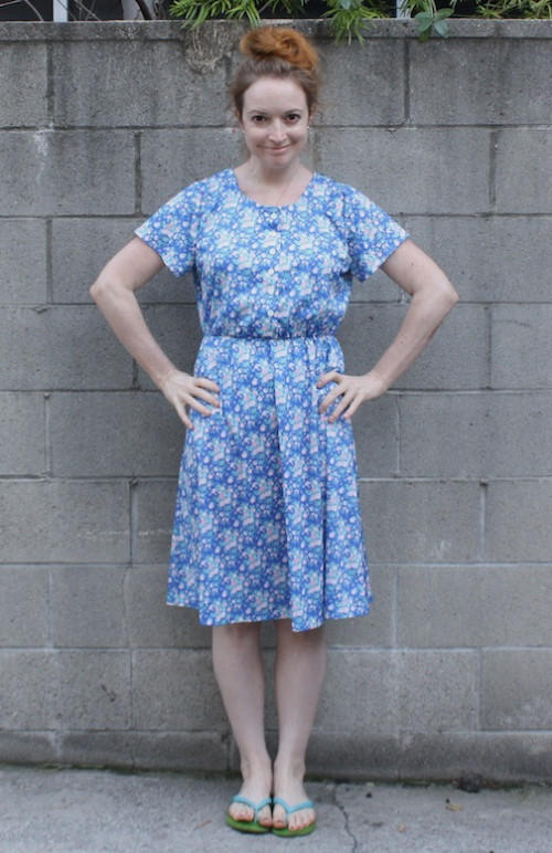 New Dress A Day - DIY - vintage floral dress - sundress -  thrift store shopping