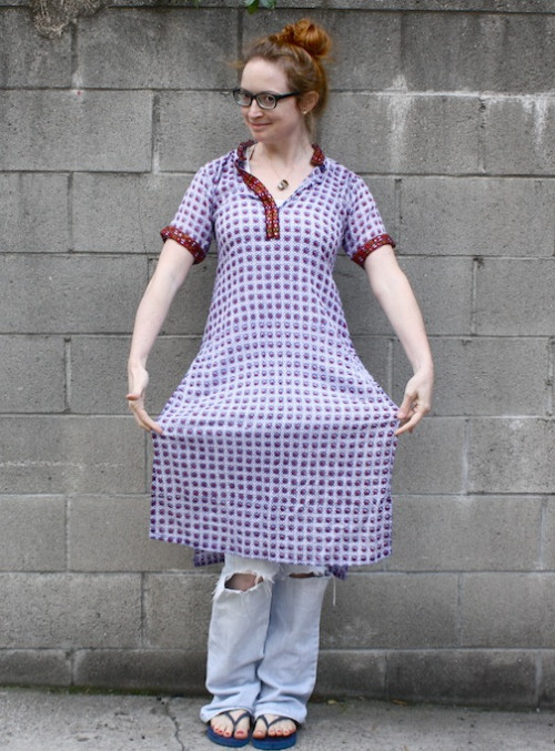 New Dress A Day - DIY - Patterned Tunic - Upcycled
