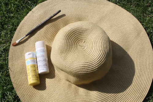 Straw Sun Hat DIY - New Dress A Day