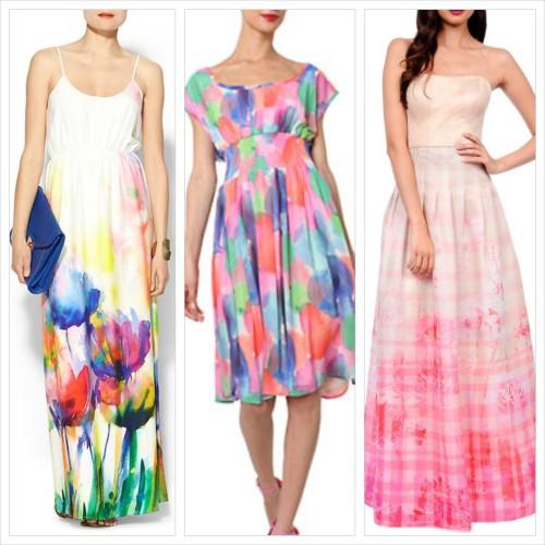 New Dress A Day - DIY - Watercolor Dye Skirt - GAP skirt