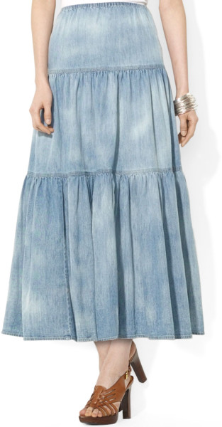 Lauren by Ralph Lauren denim skirt