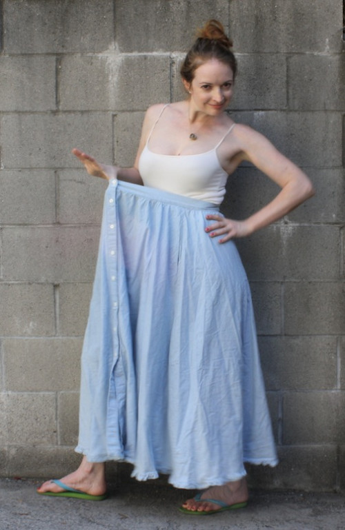 New Dress A Day - Vintage denim skirt