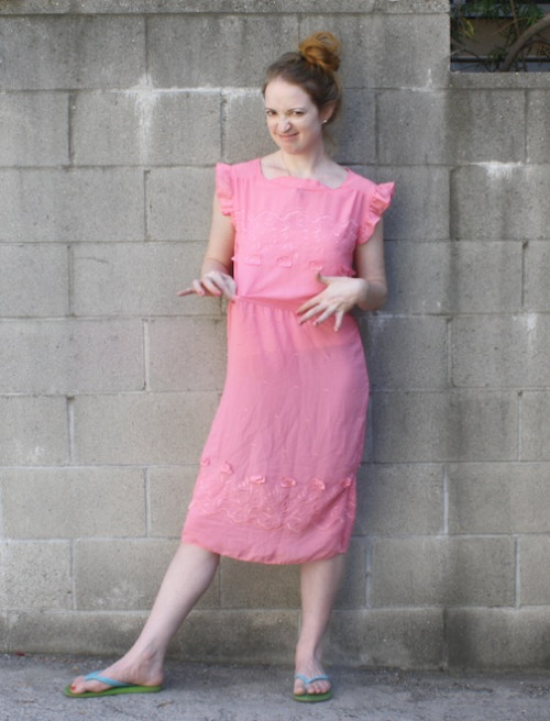 New Dress A Day - Vintage Pink Dress
