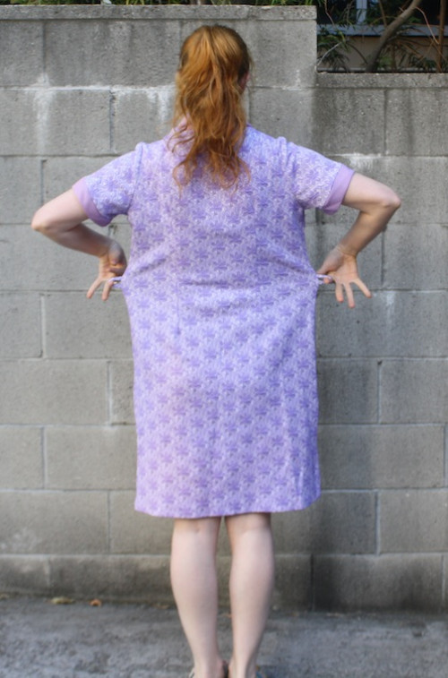 New Dress A Day - vintage purple polyester dress