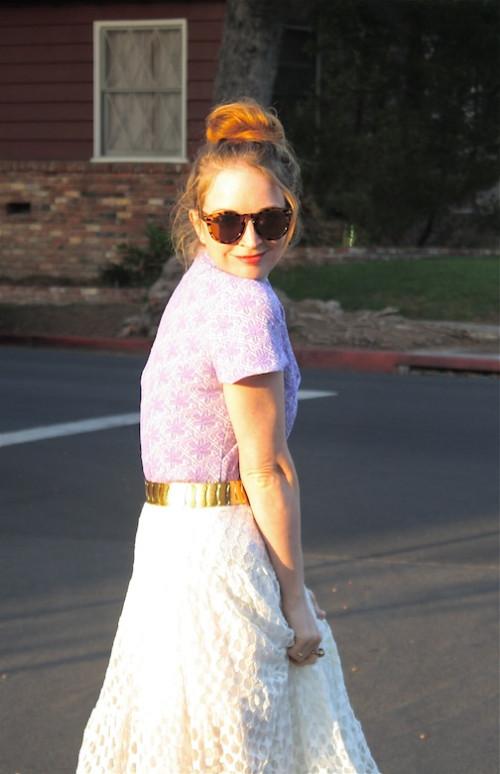 New Dress A Day - vintage purple polyester dress