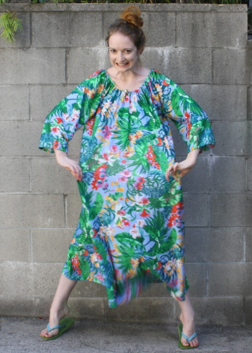 New Dress A Day - upcycled vintage muumuu