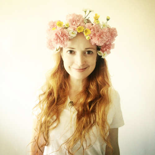 New Dress A Day - DIY Floral Crown