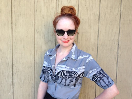 New Dress A Day - Vintage Zebra Shirt