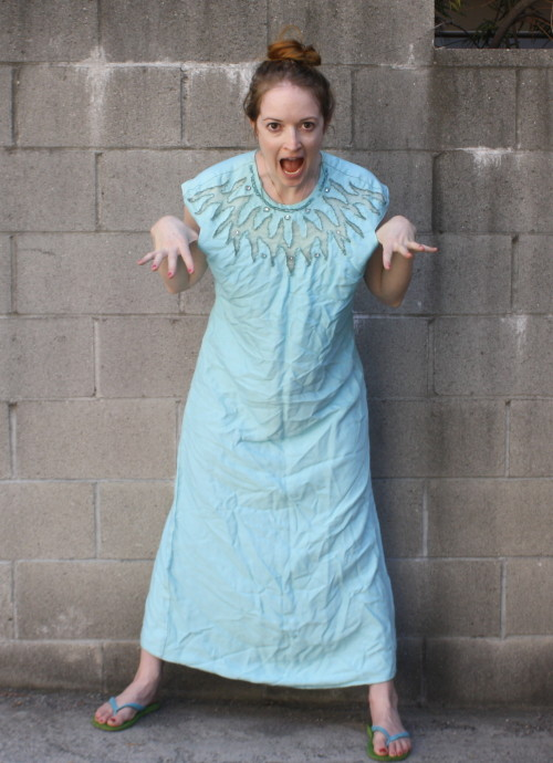 Powder Blue Vintage Dress - New Dress A Day