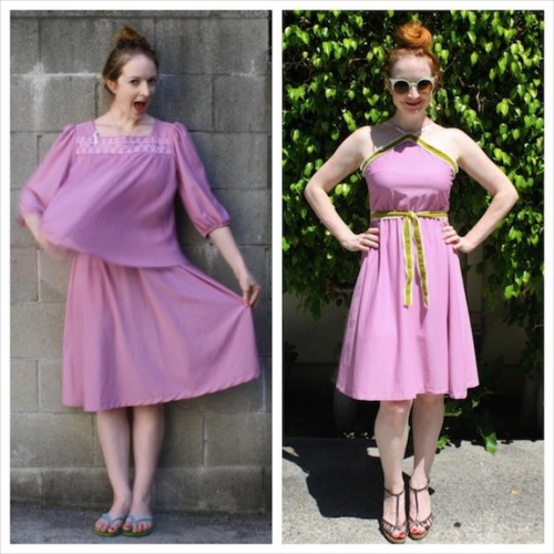 New Dress A Day - Mauve Polyester Dress