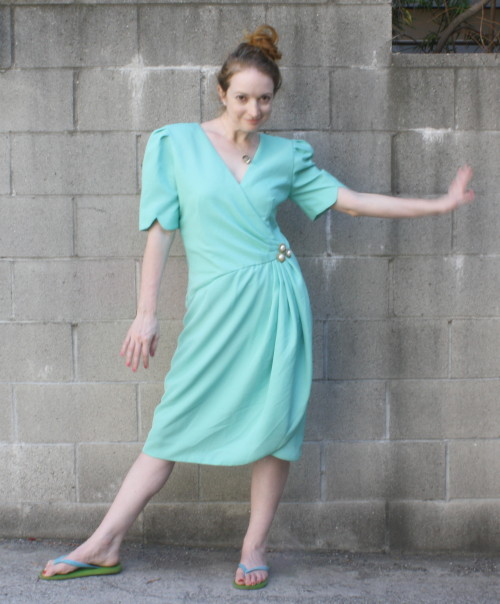 Turquoise Vintage Dress - New Dress A Day