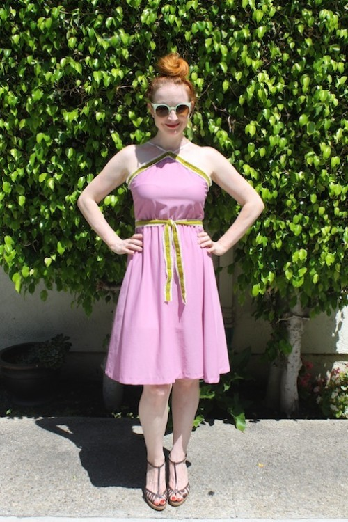 New Dress A Day - Mauve Polyester Dress