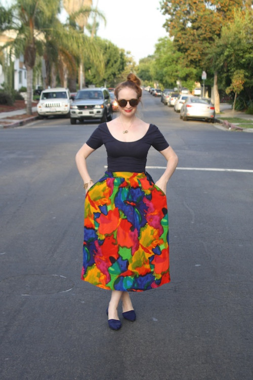 New Dress A Day - vintage skirt