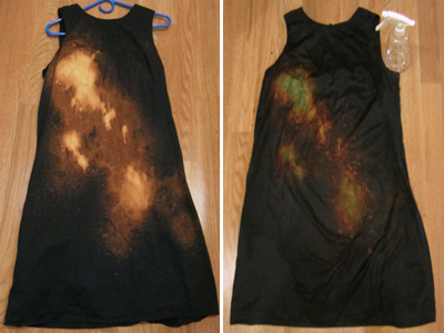 New Dress A Day - galaxy dress DIY