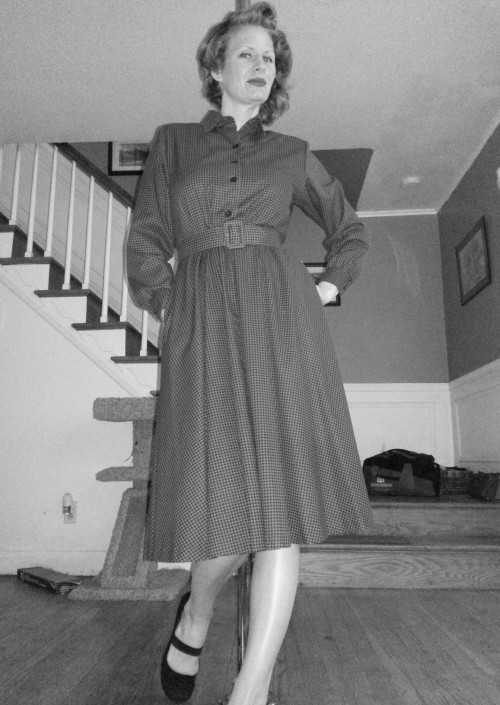 New Dress A Day - Vintage 40s Dress