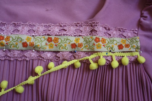 New Dress A Day - pompom ribbon detail