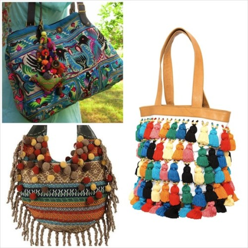 New Dress A Day - pompom purses