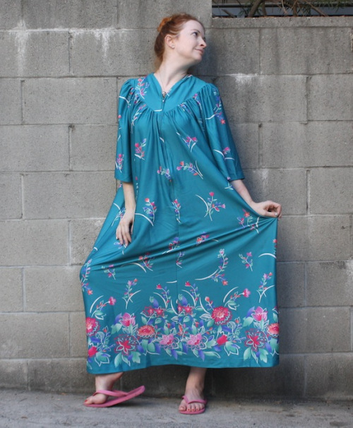 New Dress A Day - blue muumuu
