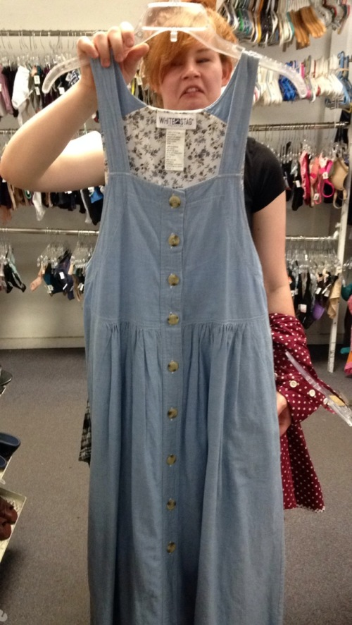 New Dress A Day - vintage denim jumper
