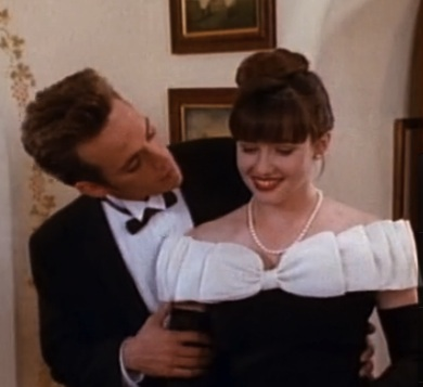 Beverly Hills, 90210 - Brenda black and white prom dresses