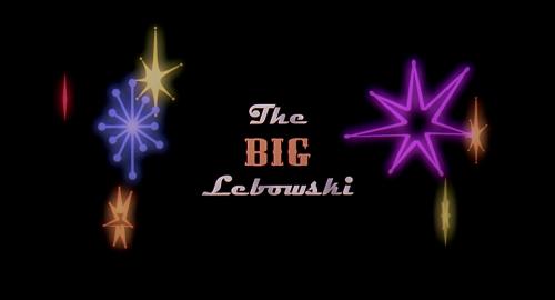 Big Lebowski - title card