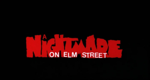 Nightmare on Elm Street - title card