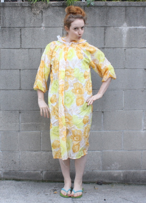 New Dress A Day - vintage floral housecoat