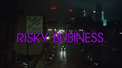 Risky Business - title card