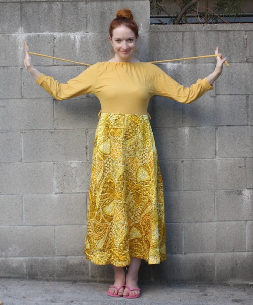 New Dress A Day - vintage mustard yellow dress