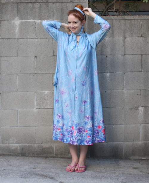 New Dress A Day - vintage blue muumuu