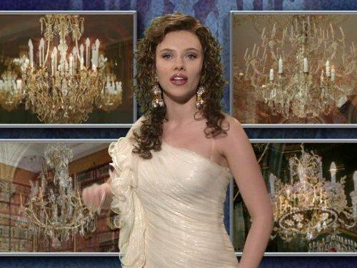 Scarlett Johannson SNL chandelier skit