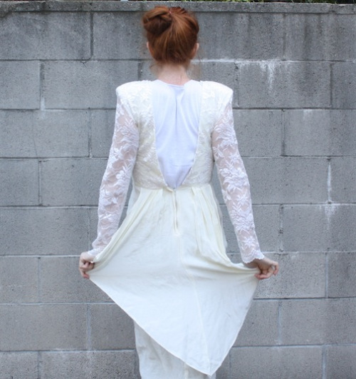 Vintage White Dress - New Dress A Day