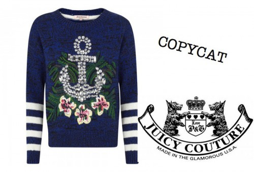 New Dress A Day - DIY - Copycat - Juicy Couture Nautical Hibiscus Sweater
