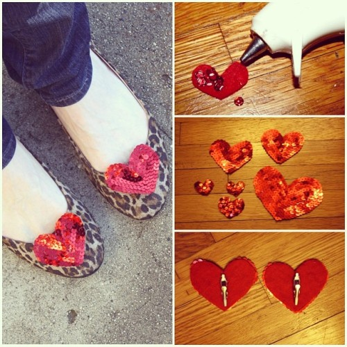 DIY - New Dress A Day - Heart Shoe Clips