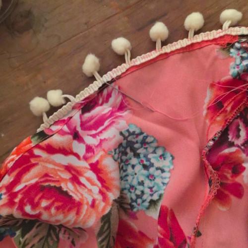 DIY Pom Pom shorts