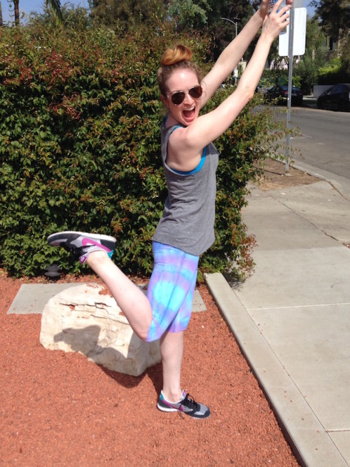 New Dress A Day - DIY tie dye workout capris