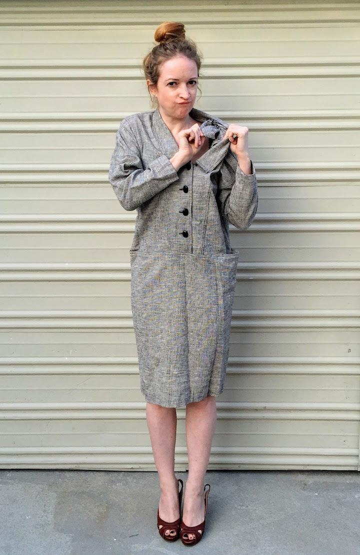 Vintage Tweed Dress - 3