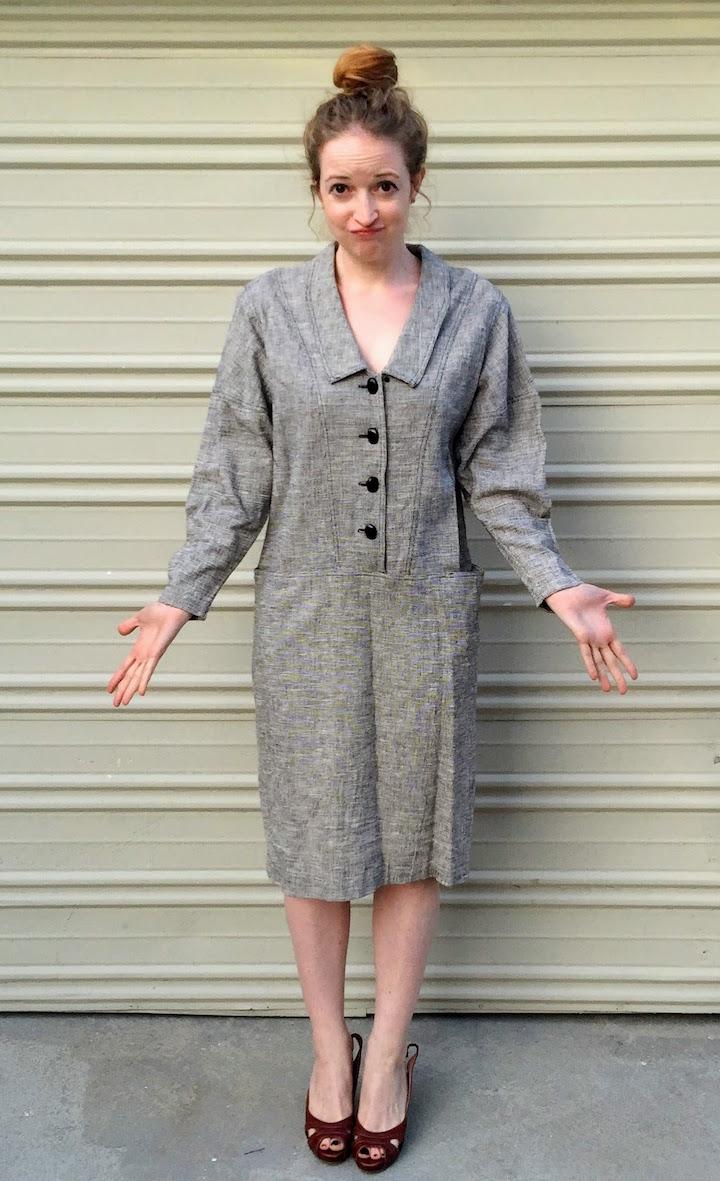 Vintage Tweed Dress - 4