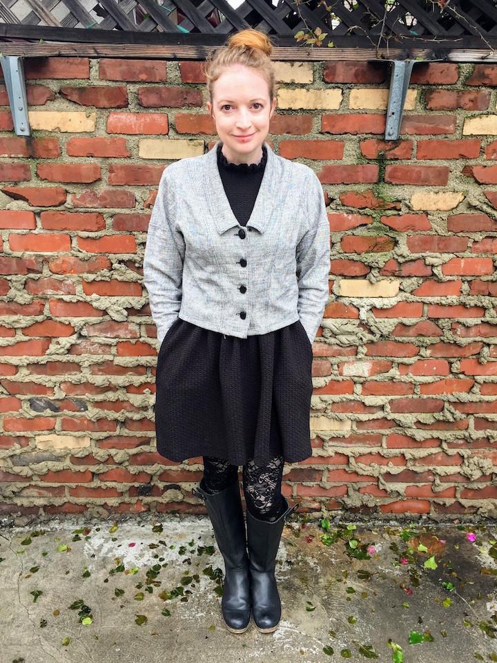 Vintage Tweed Dress - 9