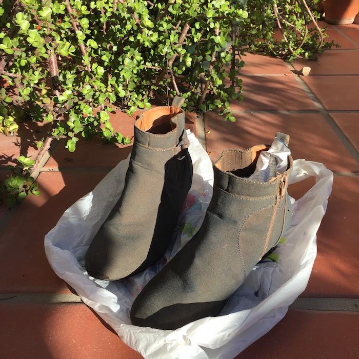 DIY Tan Boots - Rit Dye 3