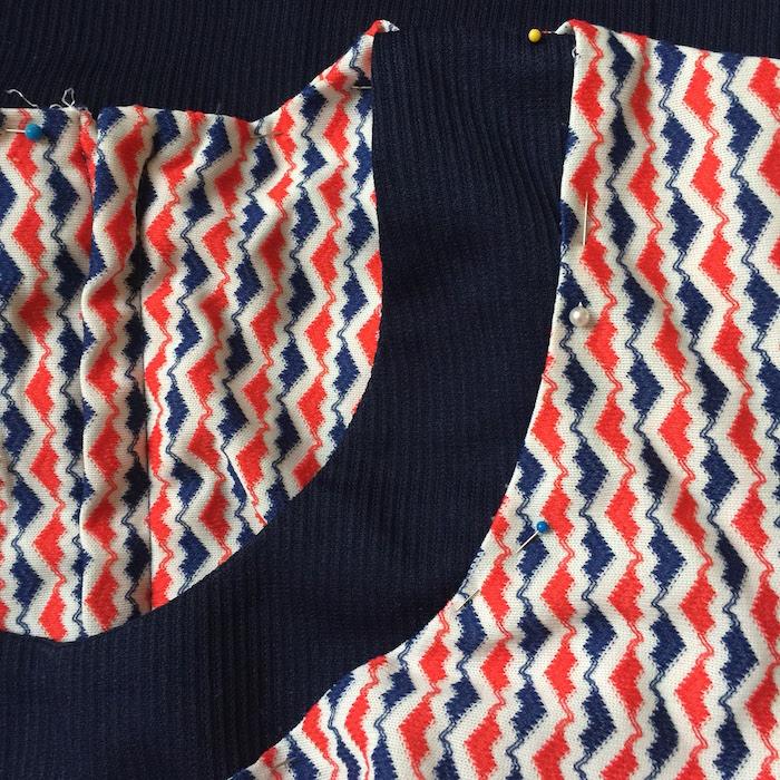 Vintage 60s Navy Dress - 7