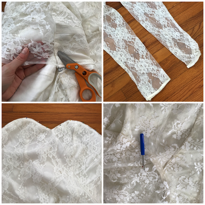 NDAD - Day 29 - Vintage Wedding Dress Cut